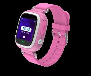 Kidi Watch Color - שעון בטיחות חכם לילדים עם GPS בצבע ורוד