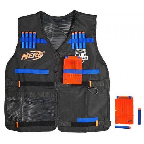 נרף - אפוד, 2 מחסניות ו-12 חיצים NERF