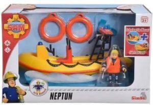 סמי הכבאי - הסירה נפטון עם דמות פני הכבאית