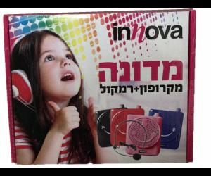 Innova - מדונה מיקרופון + רמקול בצבע אדום