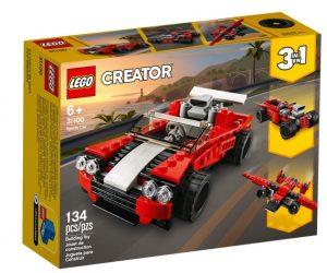 מכונית מירוץ אדומה - לגו קריאטור 31100