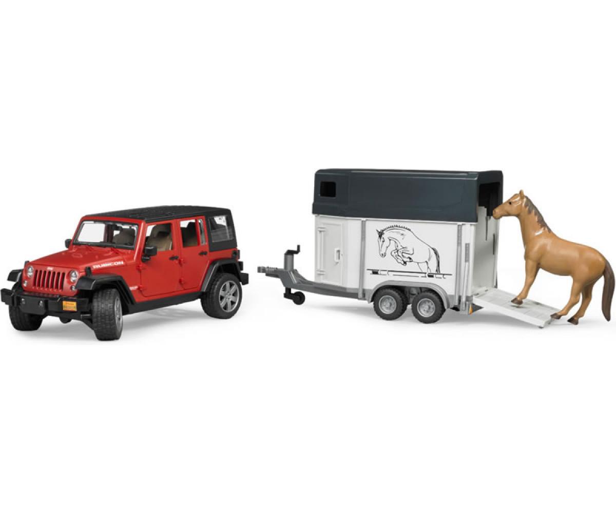 22474ג'יפ UNLIMITED RUBICON גורר עגלה עם סוס – ברודר 2926