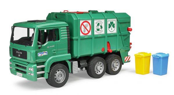ברודר - משאית זבל Man ירוק