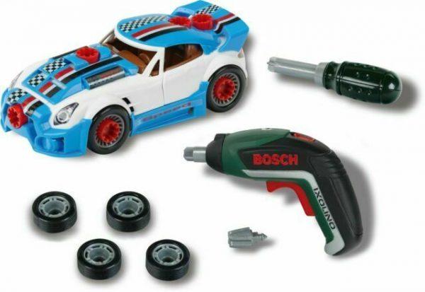מכונית מירוץ כחולה להרכבה + מיני מברגה - בוש