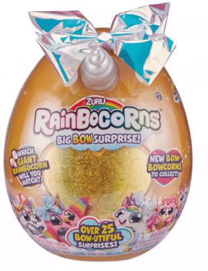 ביצת ריינבוקורן Rainbocorns - זהב ענקי - Big Bow