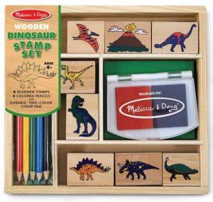סט חותמות עץ דינוזאורים - מליסה ודאג