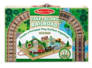 משחק תחבורה ורכבת בקופסת עץ - מליסה ודאג