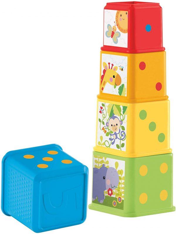 מגדל קוביות בצבעים