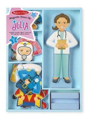 ג'וליה - סט הלבשה מגנטי מעץ - מליסה ודאג