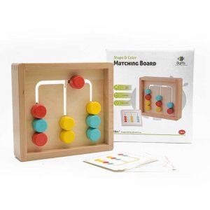 משחק התאמת צורות לצבעים מעץ