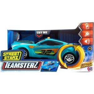Teamsterz - מכונית מירוץ ירוקה נוסעת עם אורות וקולות