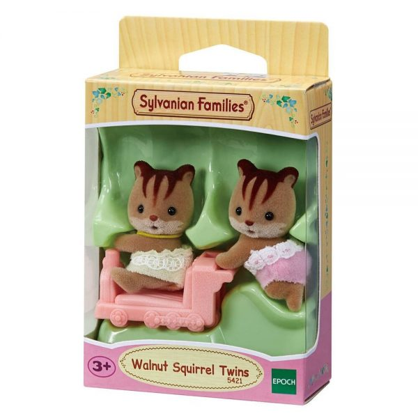משפחת סילבניאן - תאומים סנאים עם אוטו צעצוע
