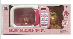 מיקרוגל לילדים בצבע ורוד עם אביזרי משחק וצלילים