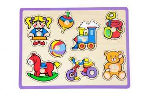 ויגה - פאזל כפתורי עץ - צעצועים