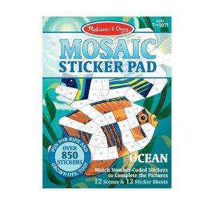מליסה ודאג - חוברת מדבקות מוזאיקה - ים