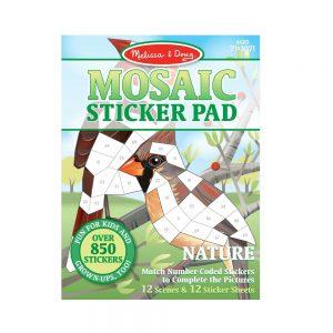 מליסה ודאג - חוברת מדבקות מוזאיקה - טבע