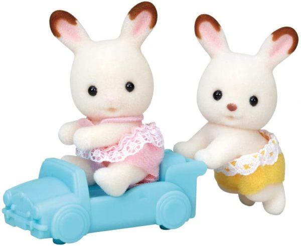 משפחת סילבניאן - תאומים ארנבוני שוקולד עם אוטו צעצוע
