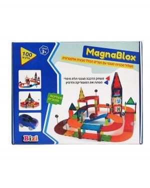 MagnaBlox - מסלול מכוניות מגנטי עם גשרים ומכונית אלקטרונית