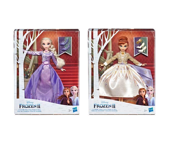 פרוזן 2 - בובה אופנתית עם שמלה מיוחדת של אלזה / אנה לבחירה