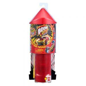 Boom City Races - מכונית מהירה מתפוצצת + משגר עם אורות וצלילים