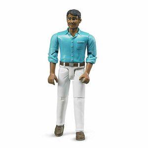 דמות נהג עם חולצה בצבע תכלת - ברודר 600037