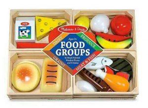 סט קבוצות מזון מעץ - מליסה ודאג