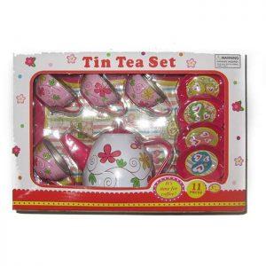 סט תה ממתכת 11 חלקים בעיצוב ציפורים