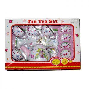 סט תה ממתכת 11 חלקים בעיצוב פרפרים