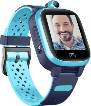 שעון GPS לילדים Kidiwatch וידאו בצבע תכלת - רשת דור 4
