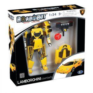 רובוטריק למבורגיני צהובה עם אורות