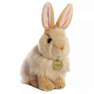 """בובת ארנב מפרווה - 28 ס""""מ"""