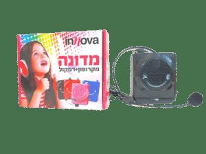 Innova - מדונה מיקרופון + רמקול בצבע שחור
