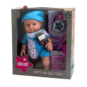 בובת תינוק עם סט רופא