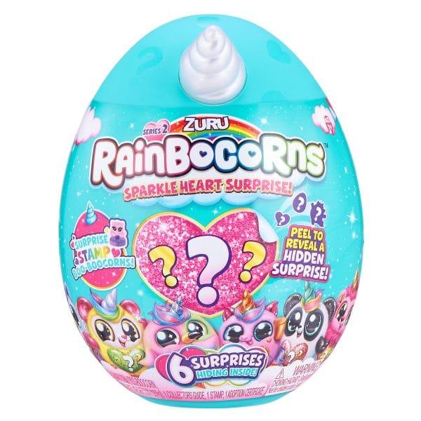ביצת ריינבוקורן Rainbocorns Sparkle Heart - לב נוצץ
