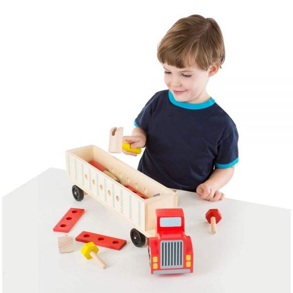 ערכת בנייה משאית מעץ - מליסה ודאג