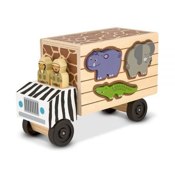 משאית התאמת צורות חיות - מליסה ודאג
