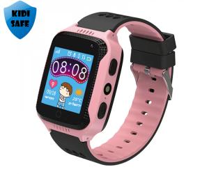 KidiWatch - שעון GPS חכם לילדים KIDI SAFE - בצבע ורוד