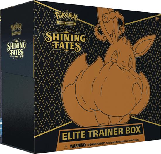 קופסת קלפי פוקימון מסדרת שיינינג פייטס