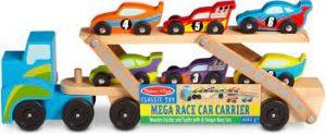 משאית מוביל מכוניות מעץ - מליסה ודאג