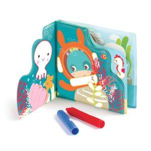 ספר משחק לאמבטיה עם צבעים