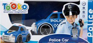 סילברליט - מכונית משטרה על שלט קולות ואורות
