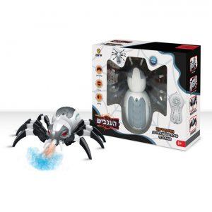 עכביש על שלט רחוק עם אורות וצלילים