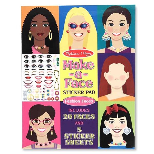 חוברת מדבקות - פנים - מליסה ודאג