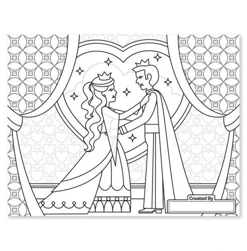 חוברת צביעה גדולה - נסיכות ופיות - מליסה ודאג