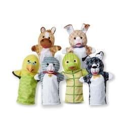 סט 6 בובות יד - חיות מחמד - מליסה ודאג