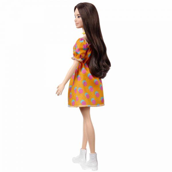 ברבי פאשניסטה שמלת כתומה עם נקודות