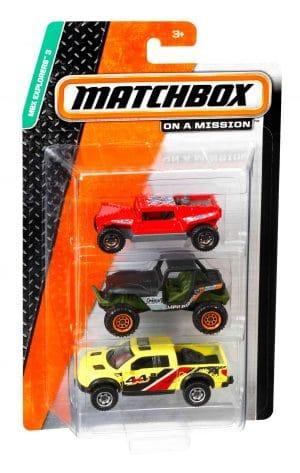 מאטצ' בוקס - מארז 3 רכבים קטנים