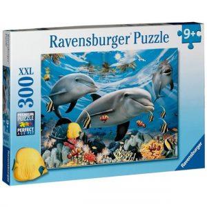 פאזל 300 - דולפינים במעמקי הים