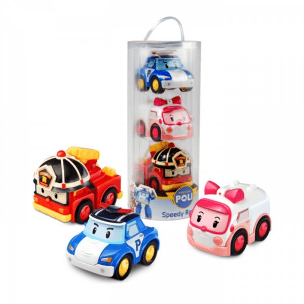 פולי - מארז 3 מכוניות רובו פולי פריקשן