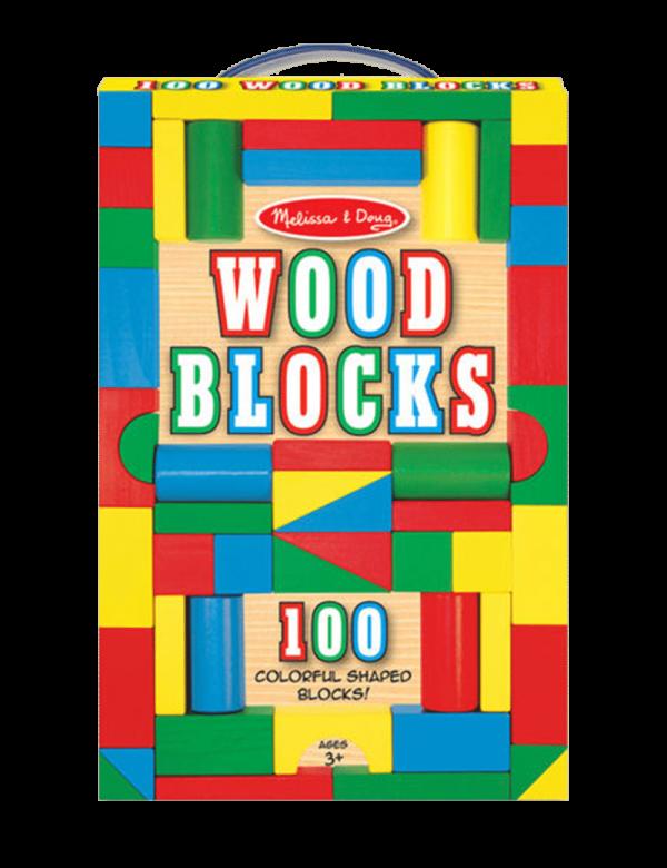 סט 100 קוביות צבעוניות מעץ - מליסה ודאג